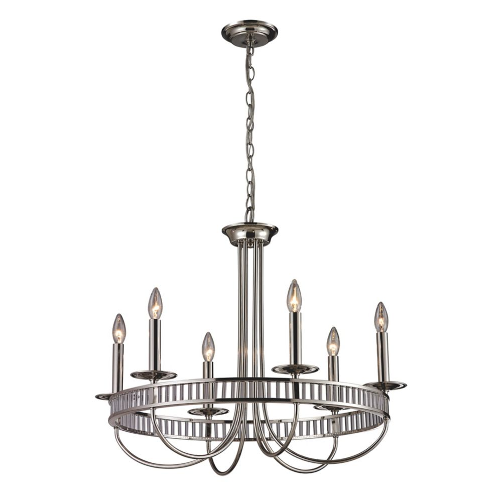 6- Light Chandelier In Polished Chrome