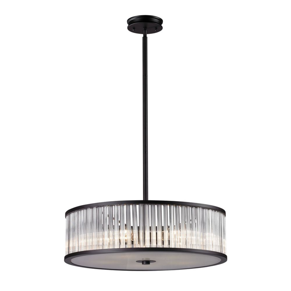 Braxton 5 Light Pendant In Aged Bronze