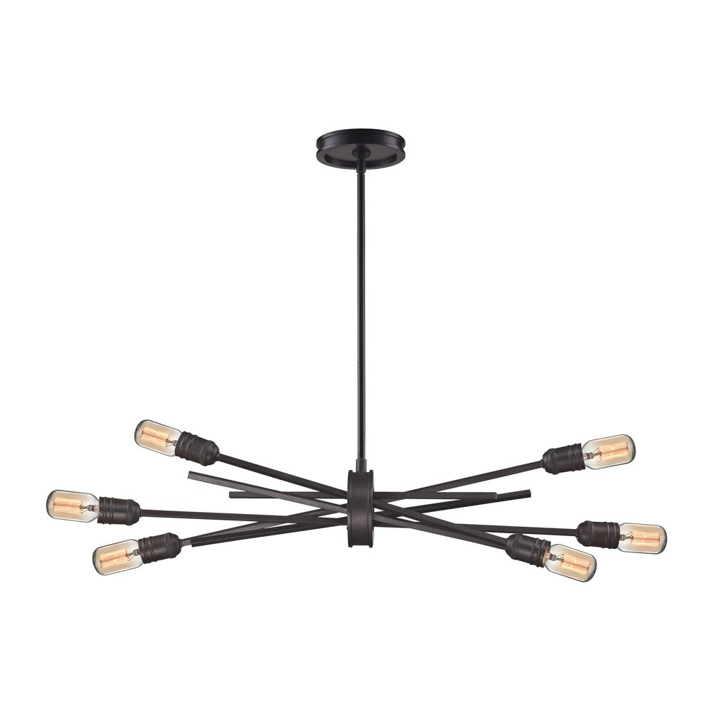 Xenia 6 Light Chandelier In Oil Rubbed Bronze