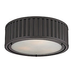 Titan Lighting Linden Collection 3 Light Flush Mount In Oil Rubbed Bronze - LED