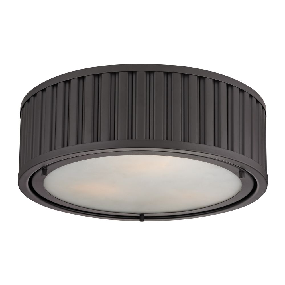 Linden Collection 3 Light Flush Mount In Oil Rubbed Bronze - LED