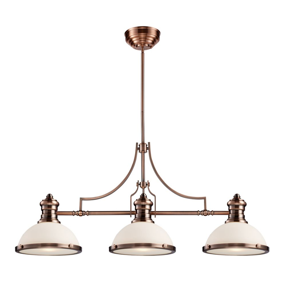 Chadwick 3-Light Island Light In Antique Copper