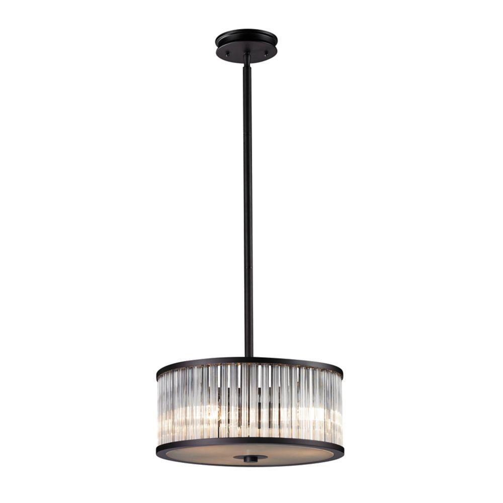 titan lighting luminaire suspendu 3 ampoules braxton au fini bronze vieilli home depot canada. Black Bedroom Furniture Sets. Home Design Ideas