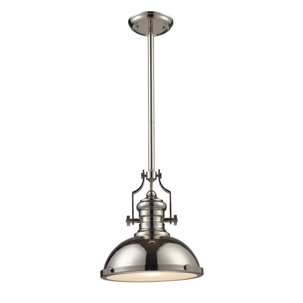 Chadwick 1-Light Pendant In Polished Nickel