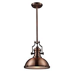 Titan Lighting Chadwick 1-Light Pendant In Antique Copper