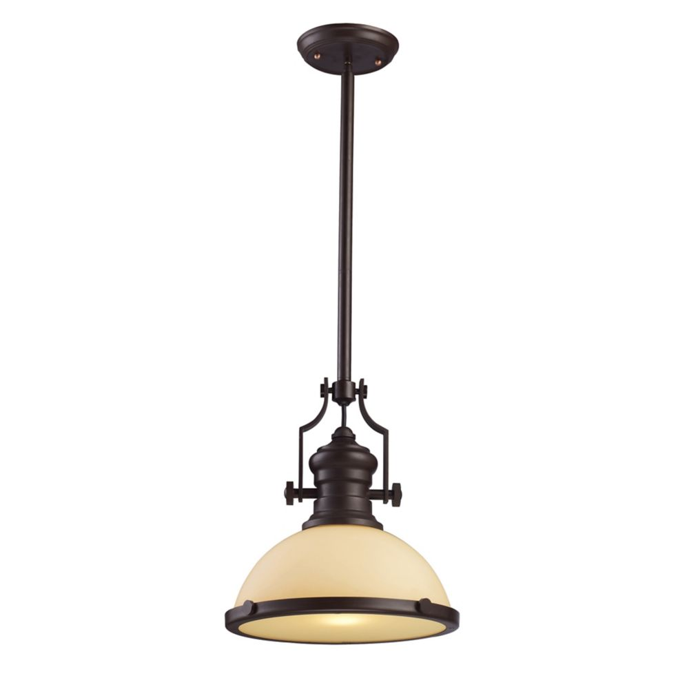 Chadwick 1-Light Pendant In Oiled Bronze