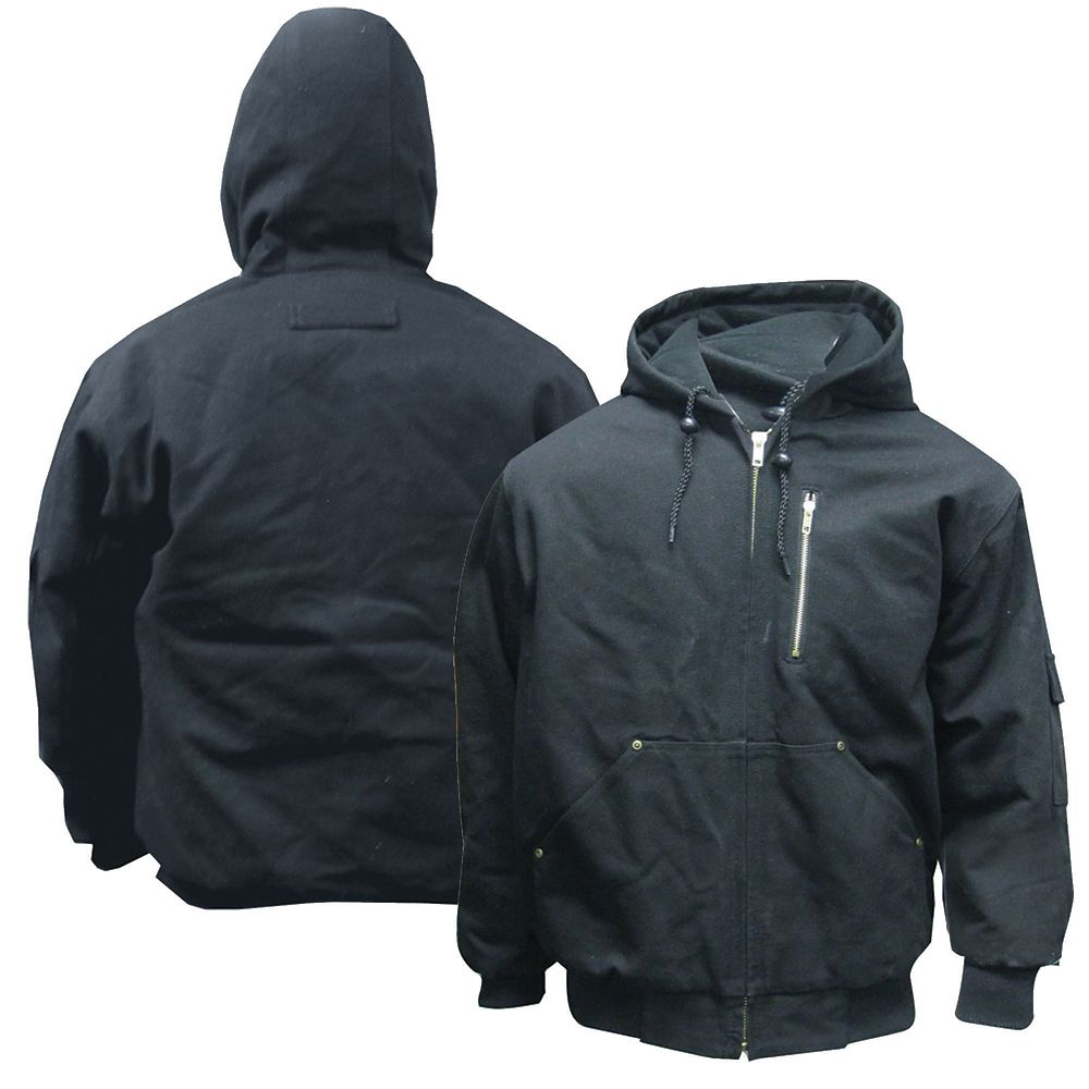 SB Black Cotton Work Jacket - L CC2BBJLQ Canada Discount