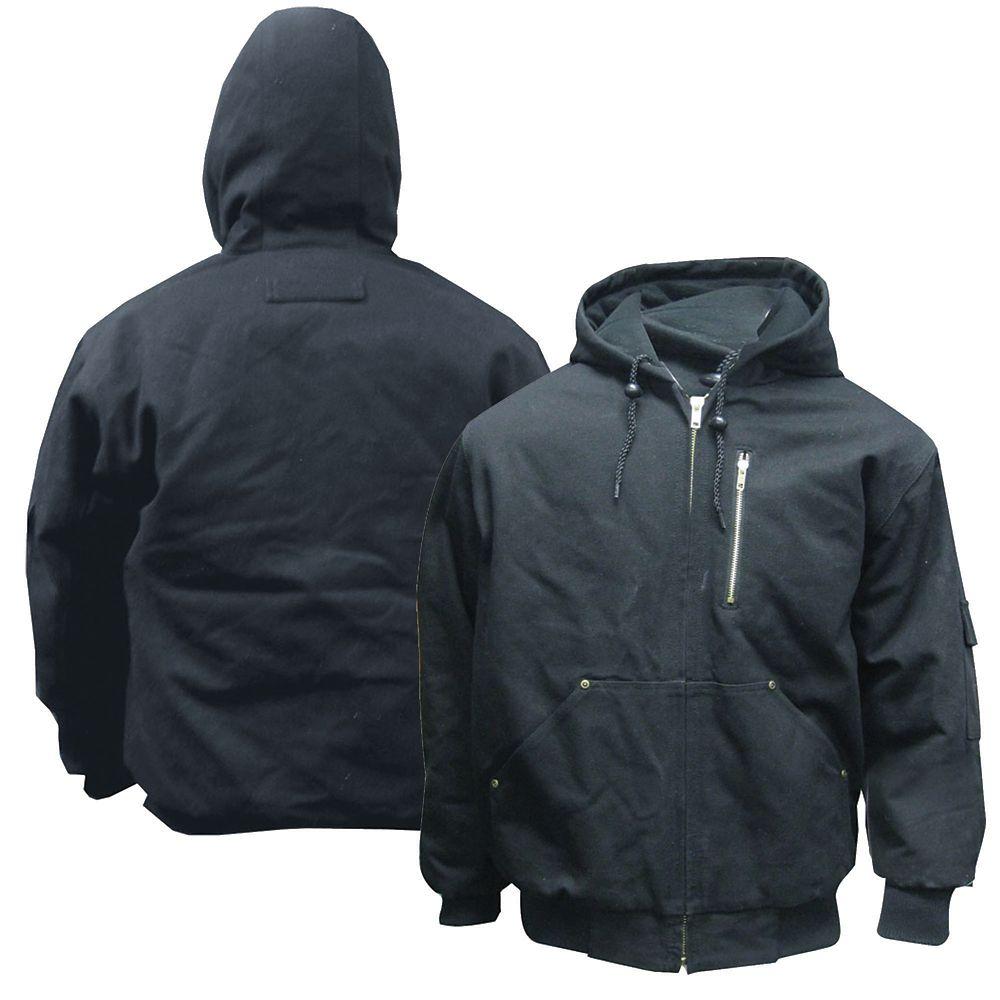 Black cotton work jacket