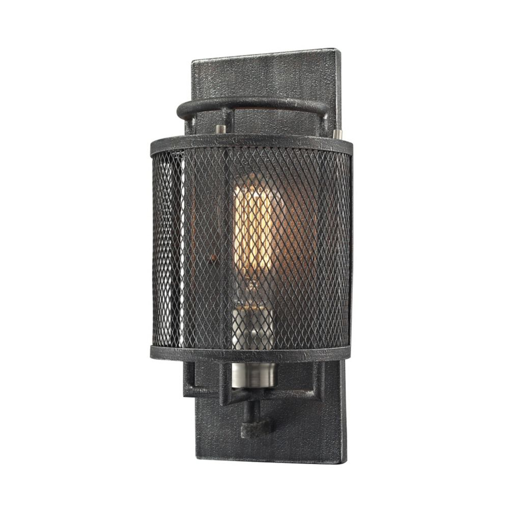 Slatington 1 Light Sconce In Silvered Graphite/Brushed Nickel TN-1199 in Canada