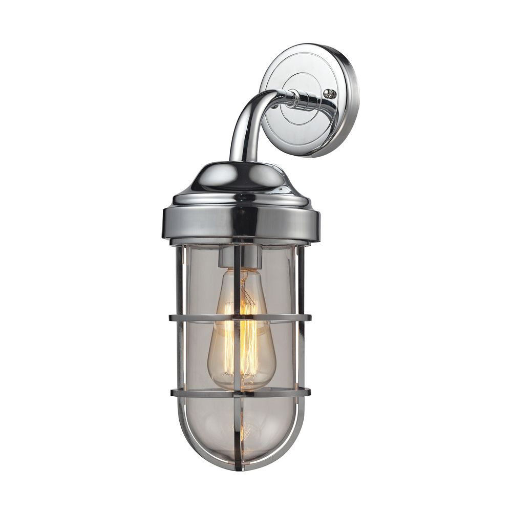 Seaport 1 Light Sconce In Polished Chrome