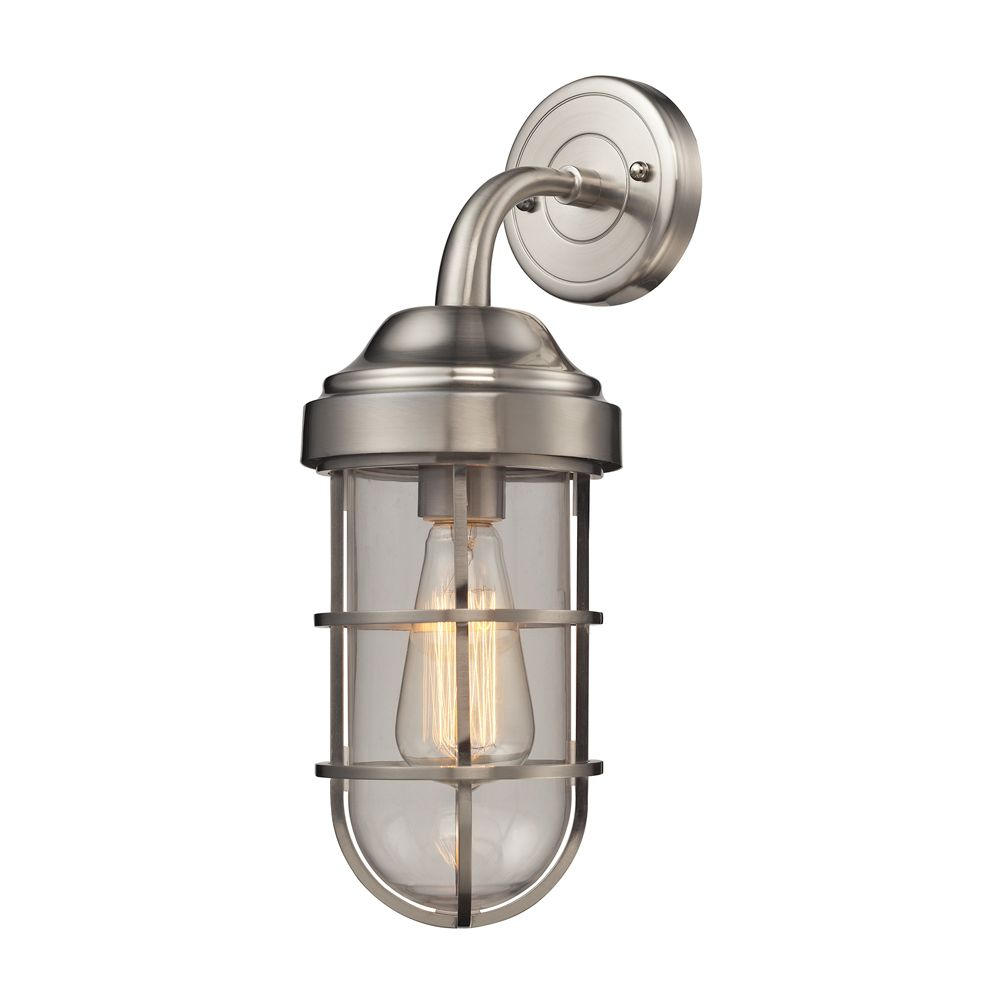Seaport 1 Light Sconce In Satin Nickel TN-1208 in Canada