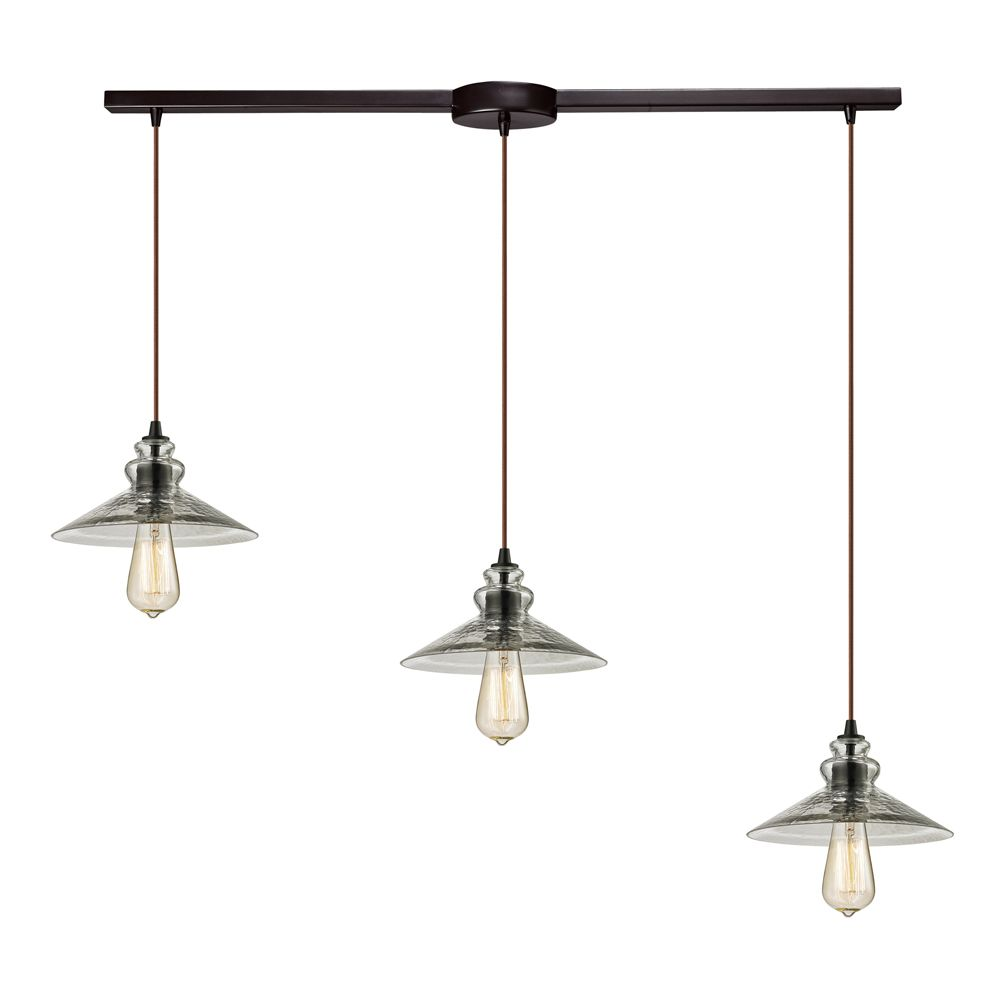 Titan Lighting Hammered Glass Collection 3 Light