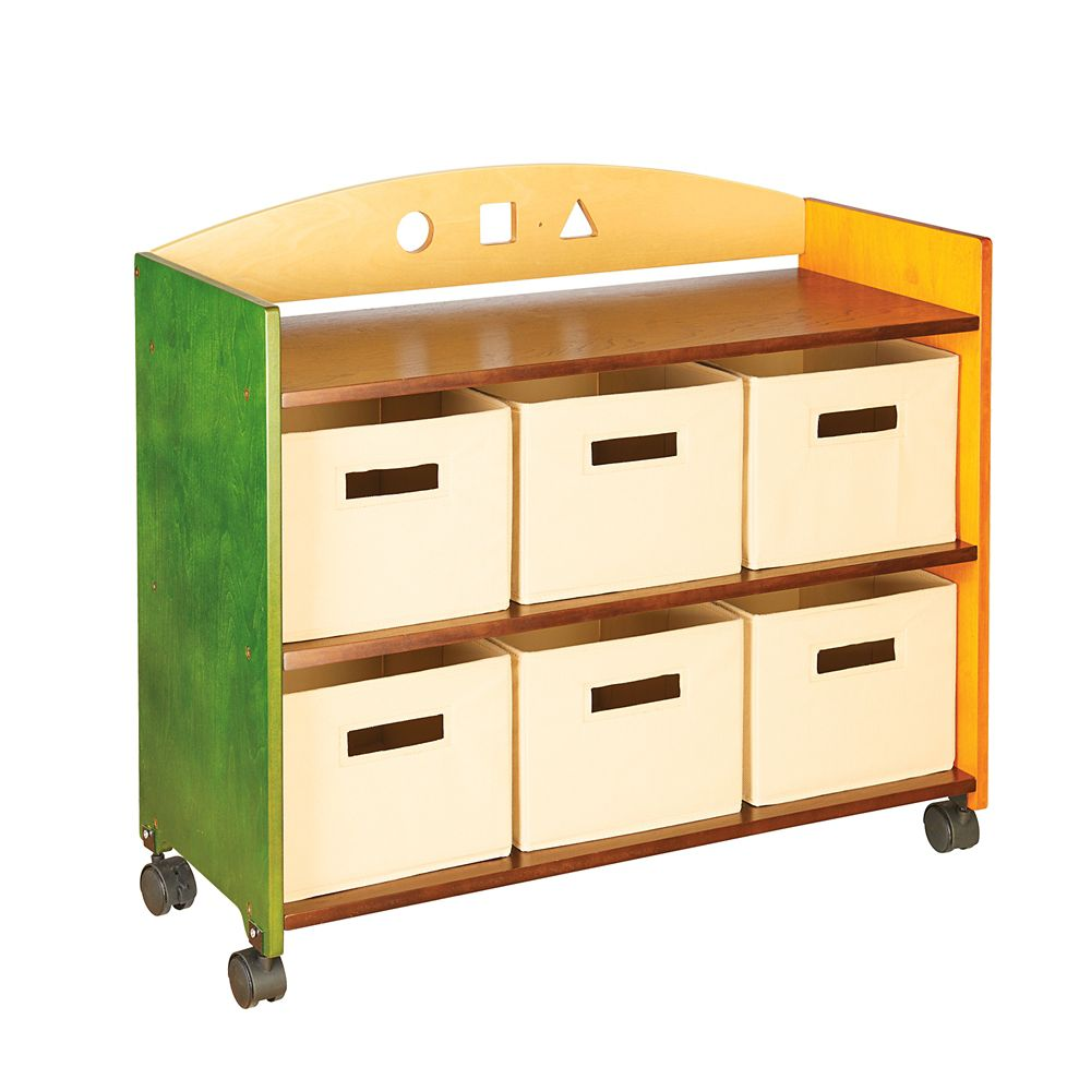 guidecraft meuble de rangement sur roulettes see and store home depot canada. Black Bedroom Furniture Sets. Home Design Ideas