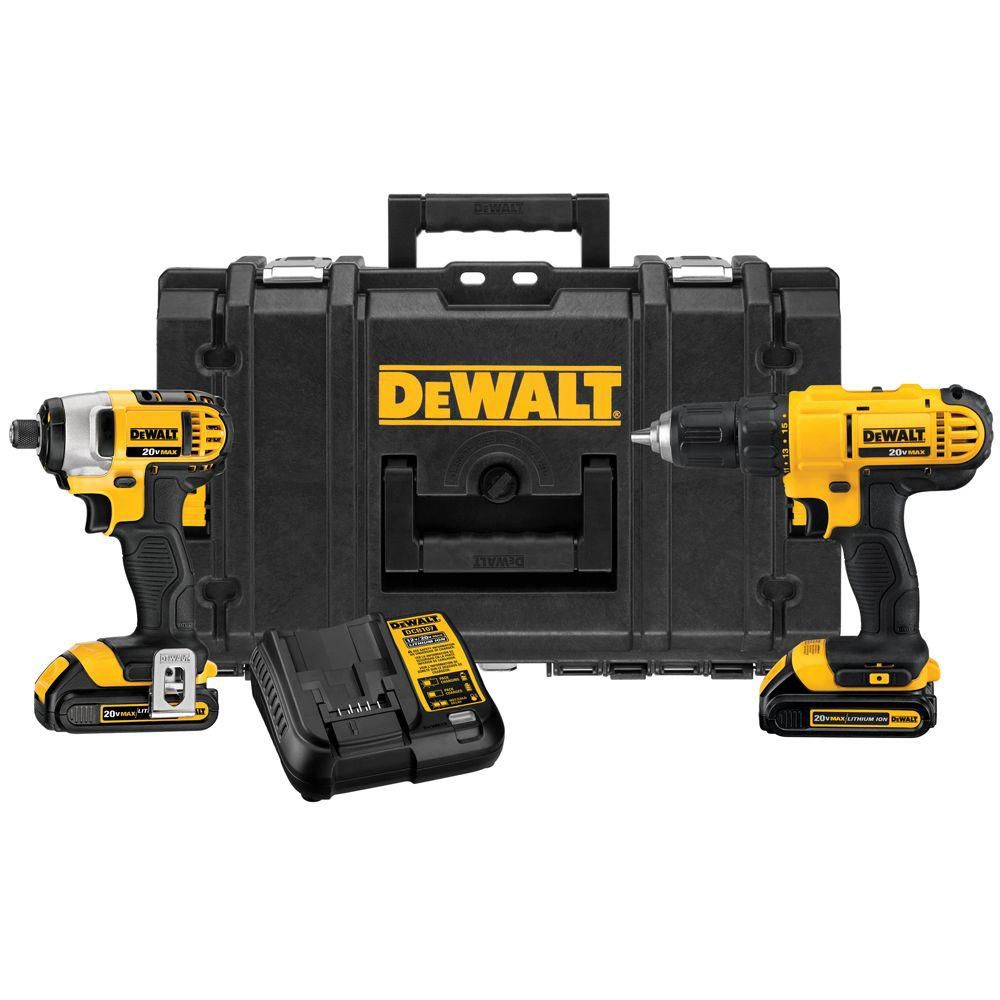 dewalt 20v max lithium ion cordless combo kit with tough case the home depot canada. Black Bedroom Furniture Sets. Home Design Ideas