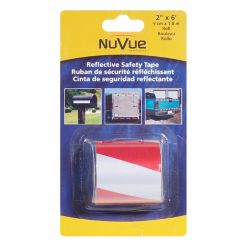 """NuVue Products Reflective Tape Red/White Barrel Stripe, 2"""" x 6' Roll"""