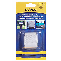 NuVue Products Reflective Tape White 1-1/2 x 8 Roll
