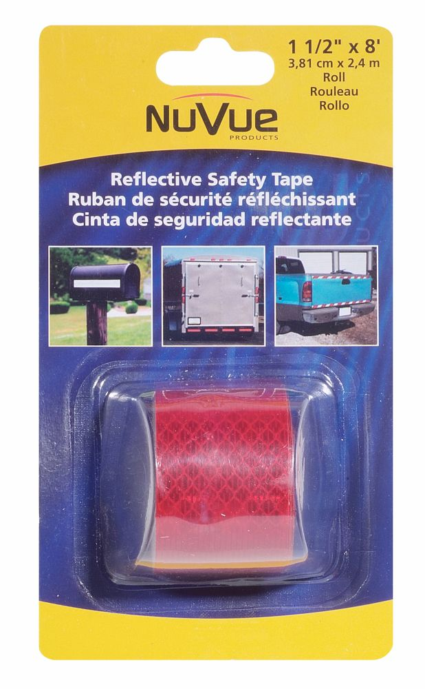 NuVue Products Reflective Tape Red 1-1/2 x 8 Roll