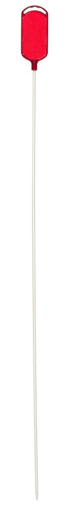 "NuVue Products Driveway Marker 36"" Red Oval Top, 1/4"" Dia., White Shaft (Pack of 30)"