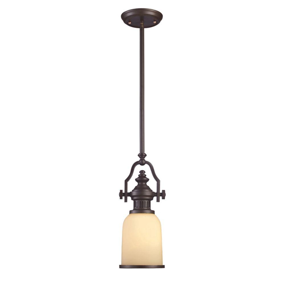 titan lighting luminaire suspendu 1 ampoule chadwick au fini bronze huil home depot canada. Black Bedroom Furniture Sets. Home Design Ideas