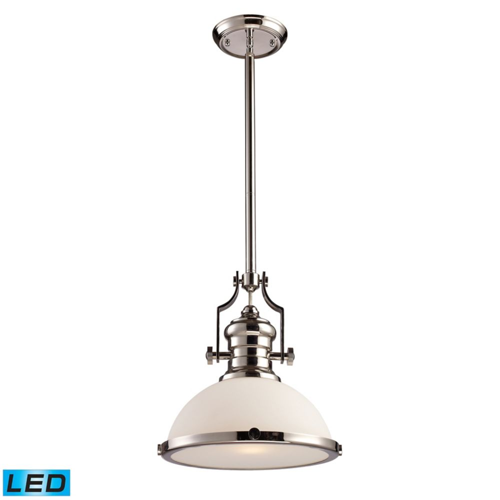 Chadwick 1-Light Pendant In Polished Nickel - LED