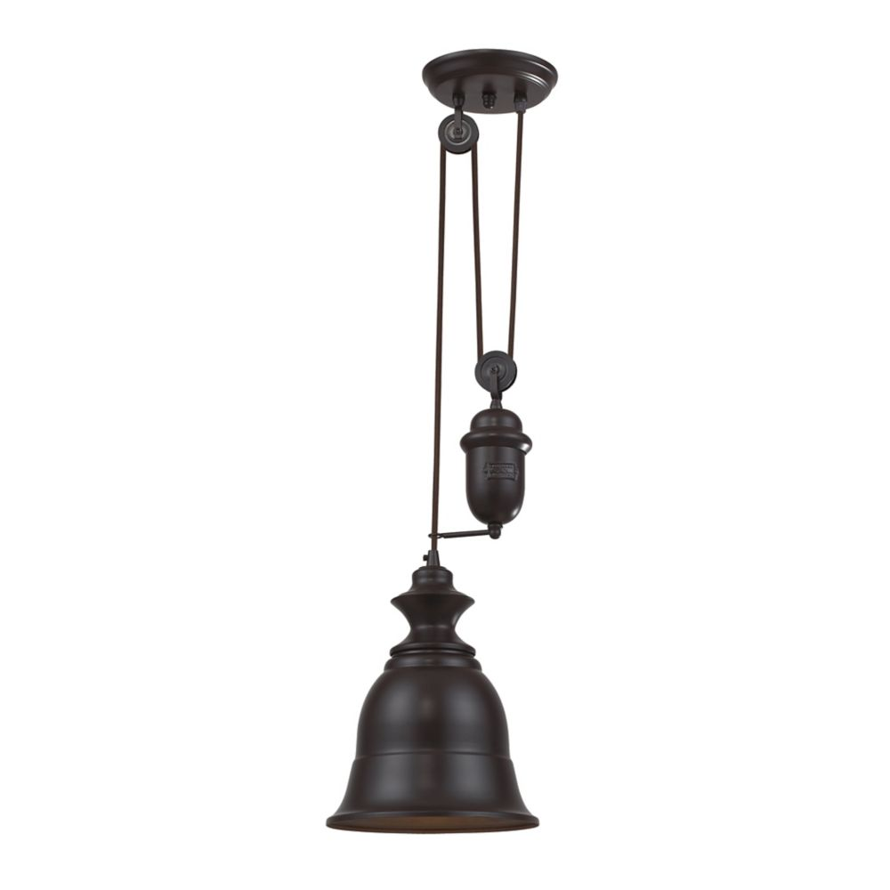 Titan Lighting Farmhouse Oiled Bronze Pendant