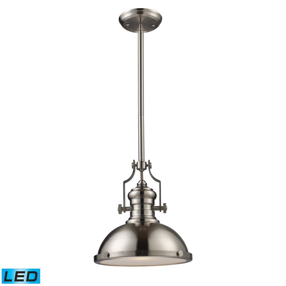 Chadwick 1-Light Pendant In Satin Nickel - LED
