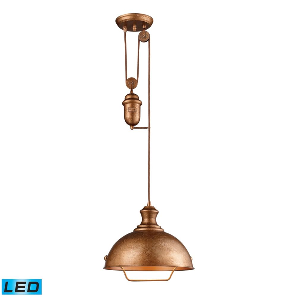 Farmhouse Bellwether Copper Pendant - LED