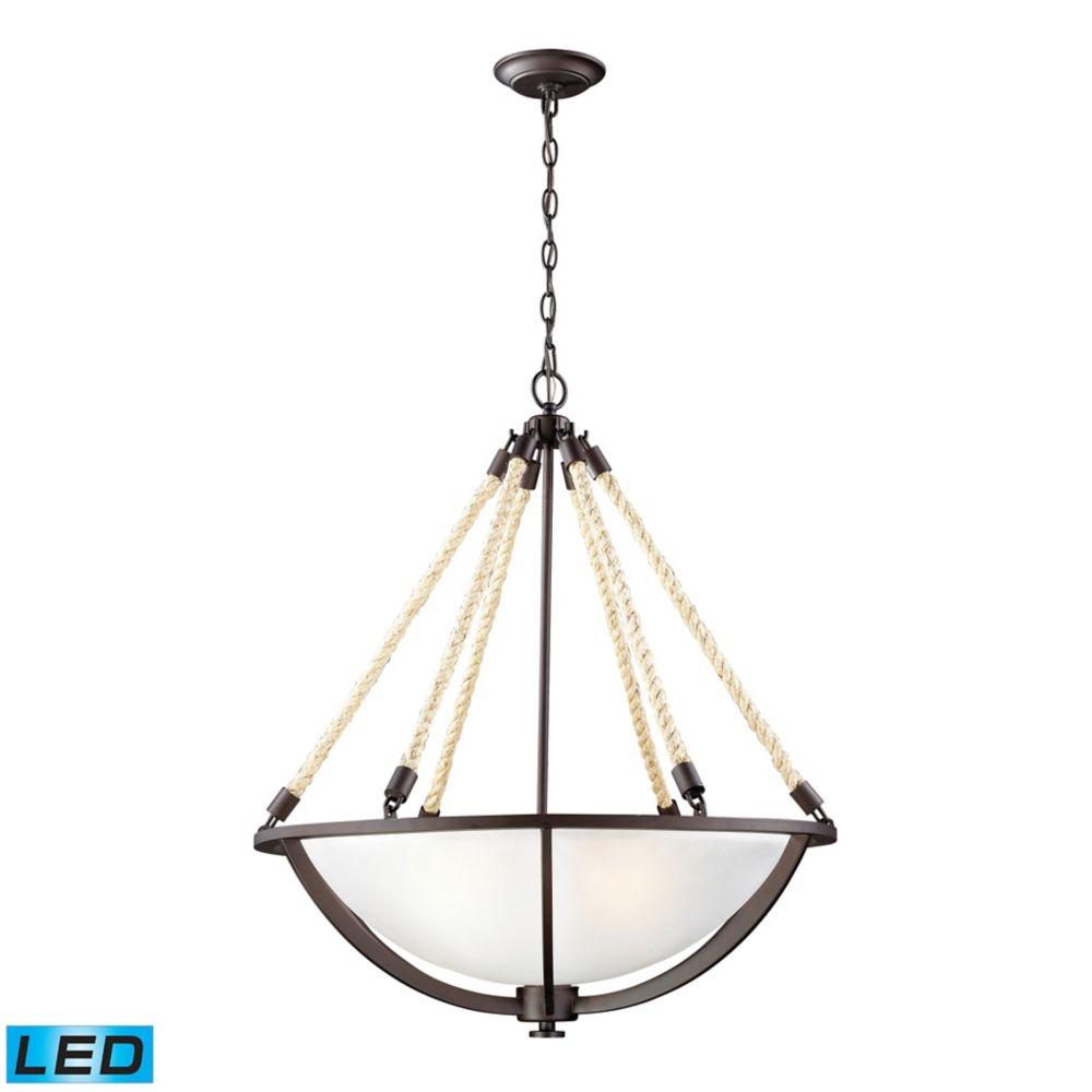 titan lighting luminaire suspendu del natural rope au fini bronze vieilli the home depot canada. Black Bedroom Furniture Sets. Home Design Ideas