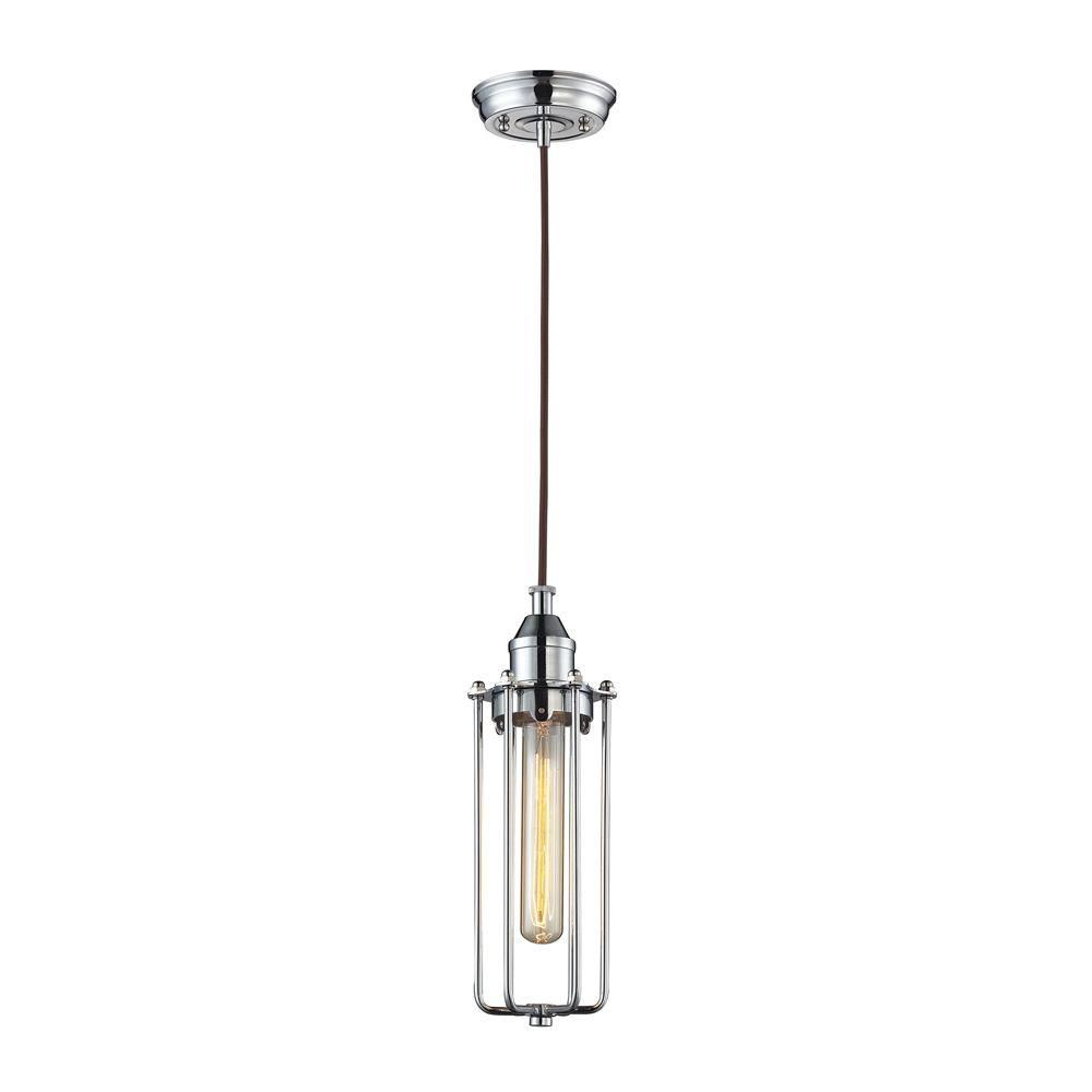 Fulton 1 Light Pendant In Polished Chrome