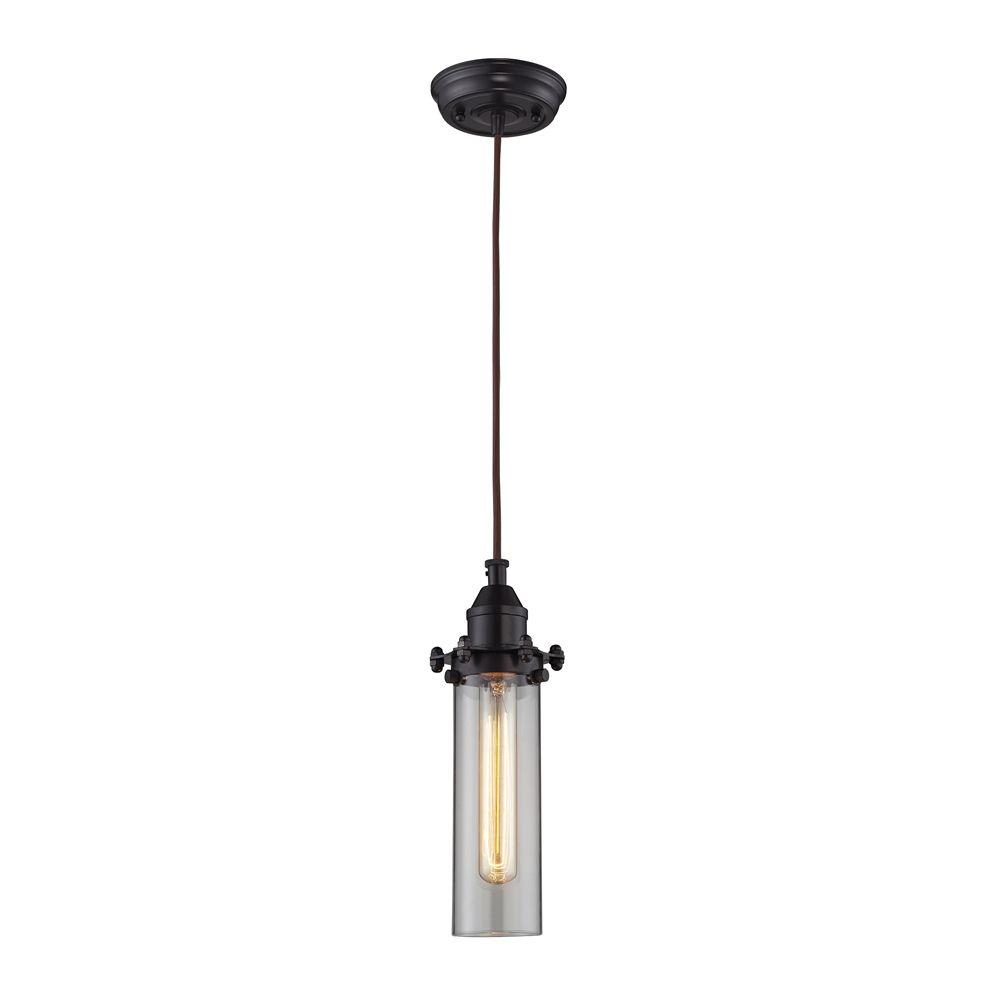 titan lighting luminaire suspendu 1 ampoule fulton au fini bronze huil home depot canada. Black Bedroom Furniture Sets. Home Design Ideas