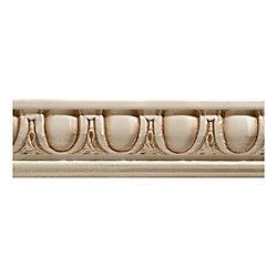 Ornamental Mouldings White Hardwood Egg & Dart Chair Rail Moulding - 27/32 x 2-1/4 x 96 Inches