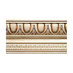 White Hardwood Egg & Dart Crown Moulding 1/2 inch x 4 inch x 8 ft.