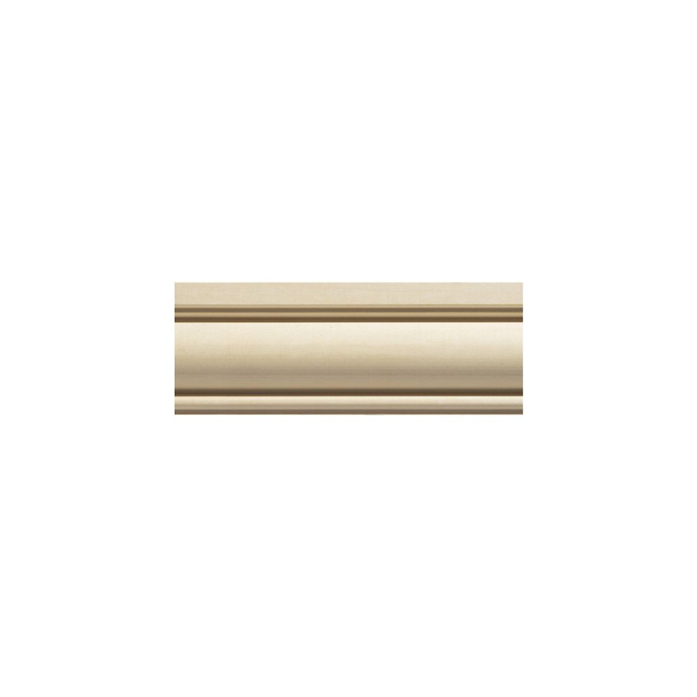 White Hardwood Colonial Chair Rail Moulding 1/2  Inch x 2-5/8  Inch x 8  Feet
