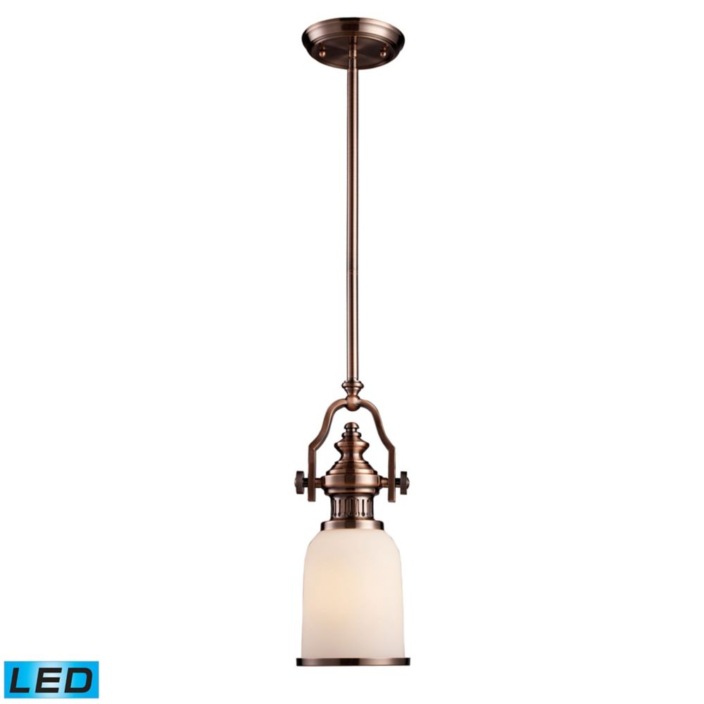 Chadwick 1-Light Pendant In Antique Copper - LED