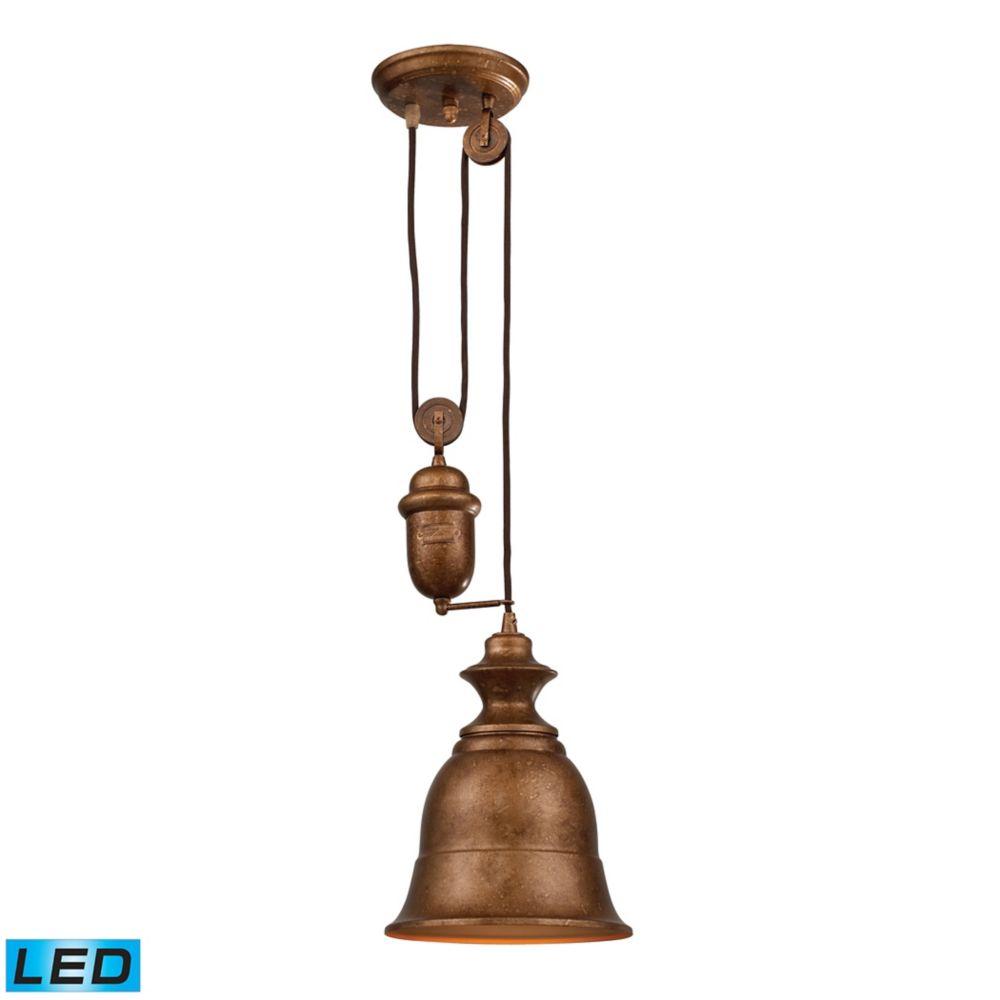 Farmhouse Bellwether Copper Pendant - LED