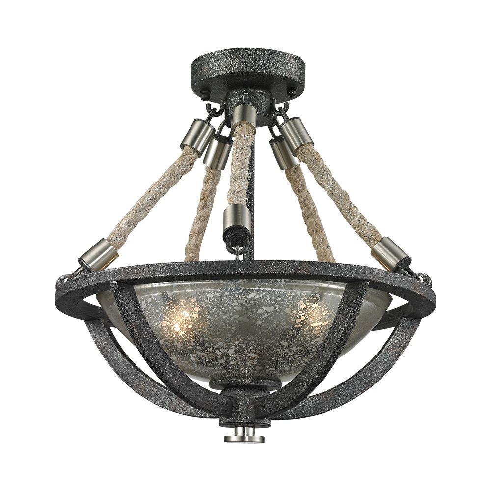 Titan lighting luminaire suspendu 2 ampoules natural for Luminaire ampoule suspendu