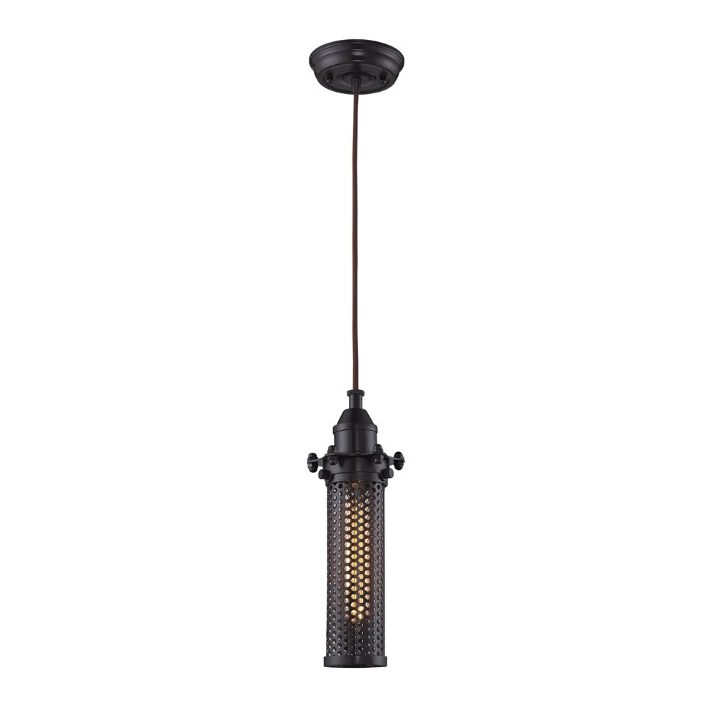 Fulton 1 Light Pendant In Oil Rubbed Bronze