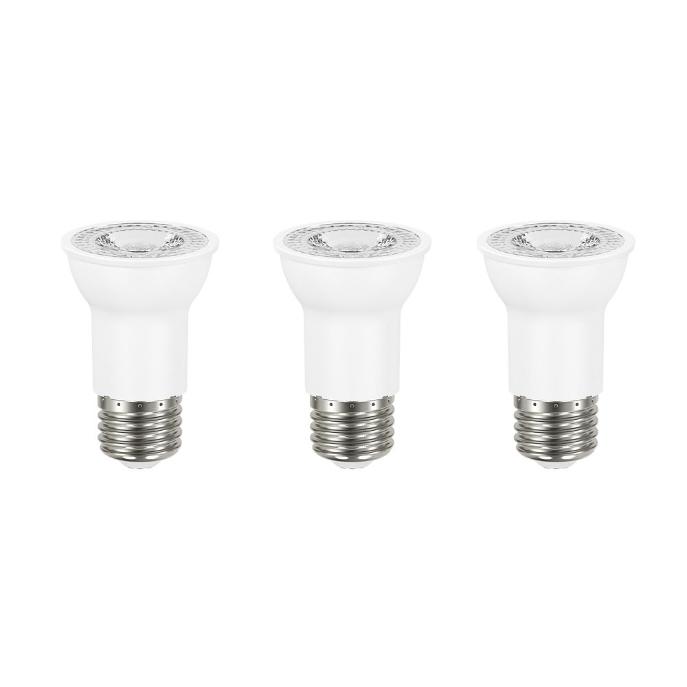 Ampoule DEL PAR16 faisceau large intensité réglable, lumière naturelle (5000K), équiv. à 50W (3/p...