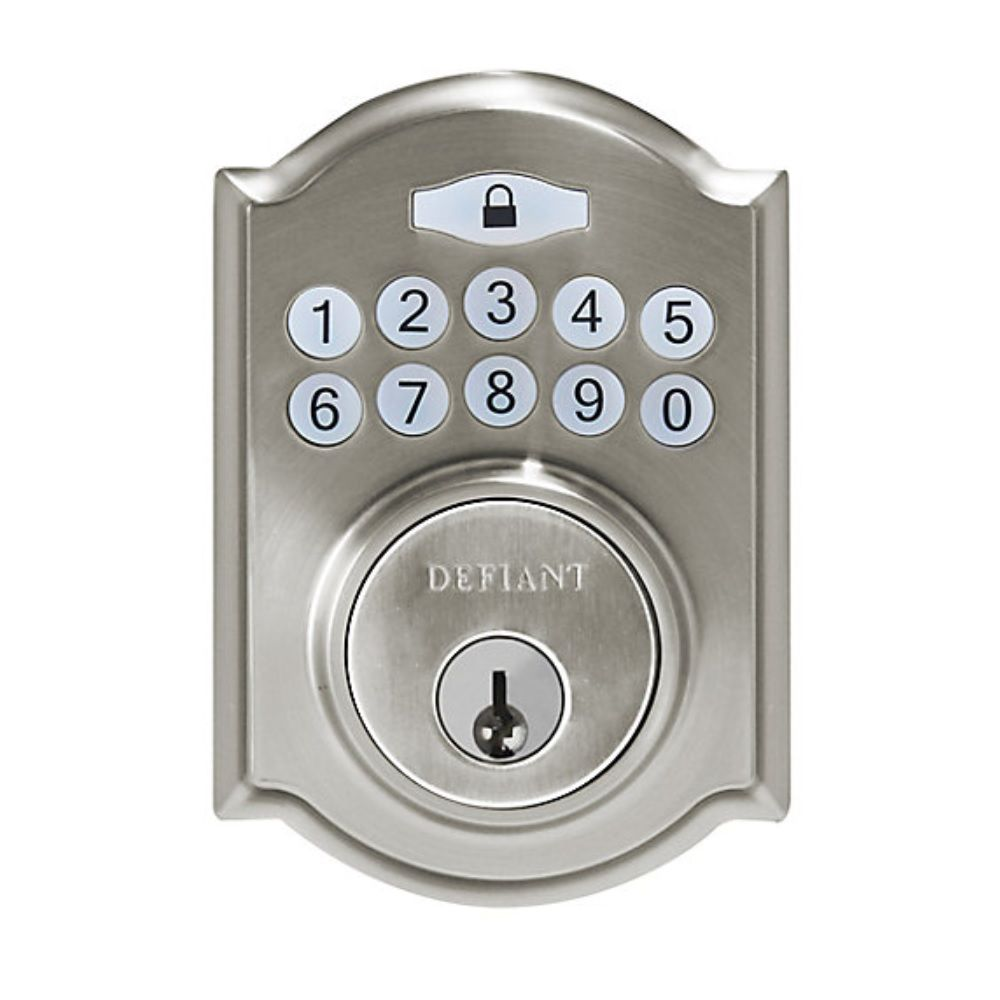 Defiant Castle Satin Nickel Single Cylinder Keyless Entry Electronic Keypad Deadbolt