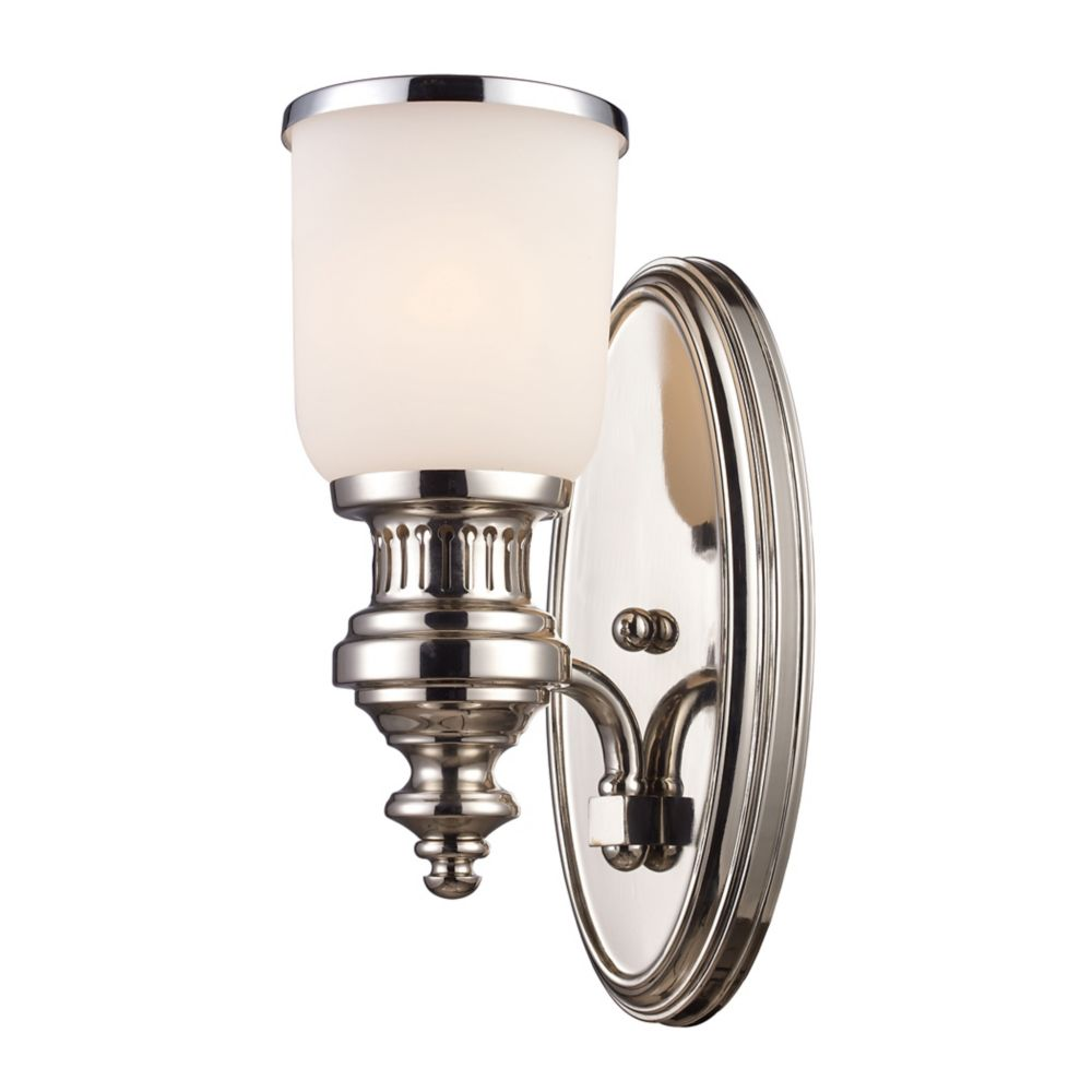Chadwick 1-Light Sconce In Polished Nickel