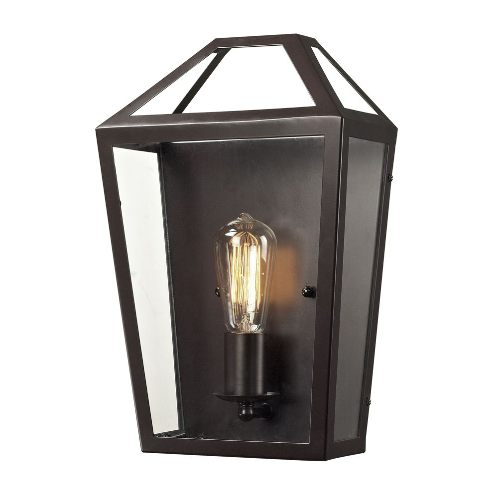 Alanna Collection 1 Light Sconce In Oil Rubbed Bronze