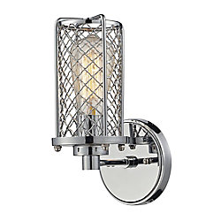 Titan Lighting Brisbane Collection 1 Light Sconce In Polished Chrome