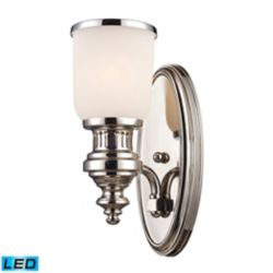 Titan Lighting Chadwick 1-Light Sconce In Polished Nickel - LED