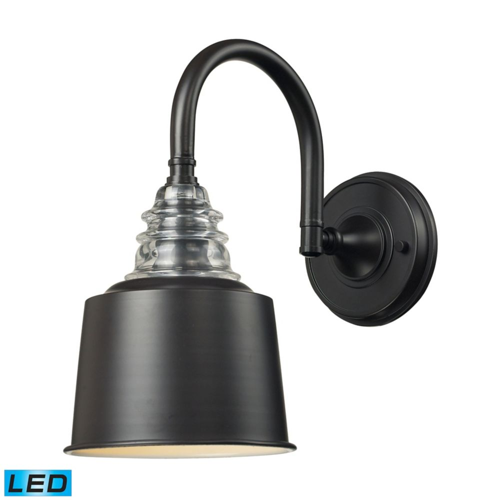 Insulator Glass  1 Light Sconce In - LED