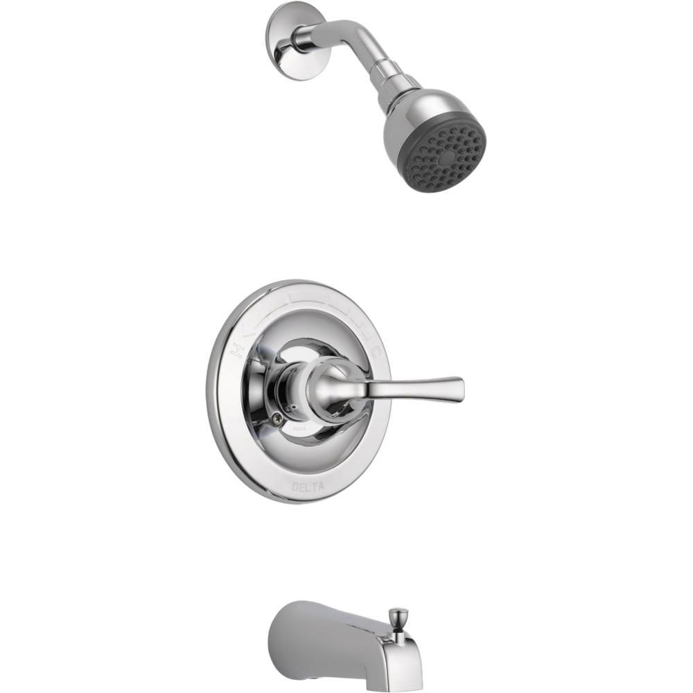 Pressure-Balanced Bath/Shower Faucet in Chrome