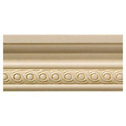 Ornamental Mouldings Petite cimaise rondelle en bois dur blanc - 1/2 x 1 3/4 x 48 pouces