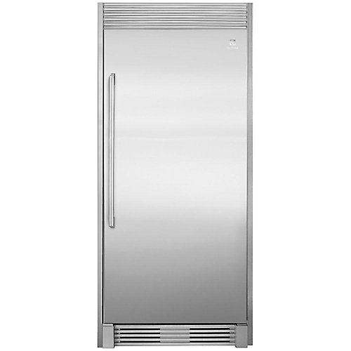 79-inch Single Louvered Trim Kit for All Refrigerator in Stainless Steel