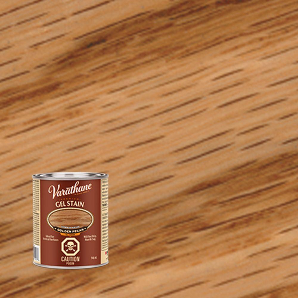 Varathane varathane premium gel stain golden pecan 946ml for Gel stain