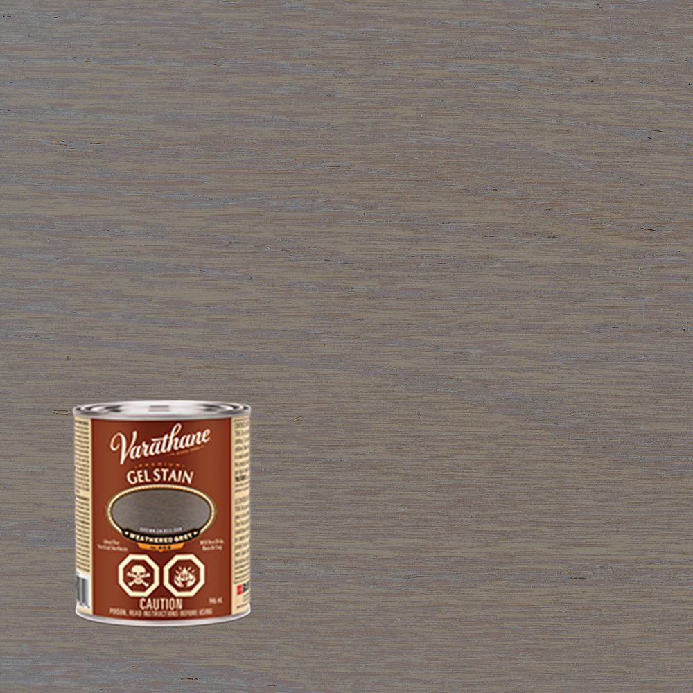 Varathane varathane premium gel stain weathered grey 946ml for Gel stain