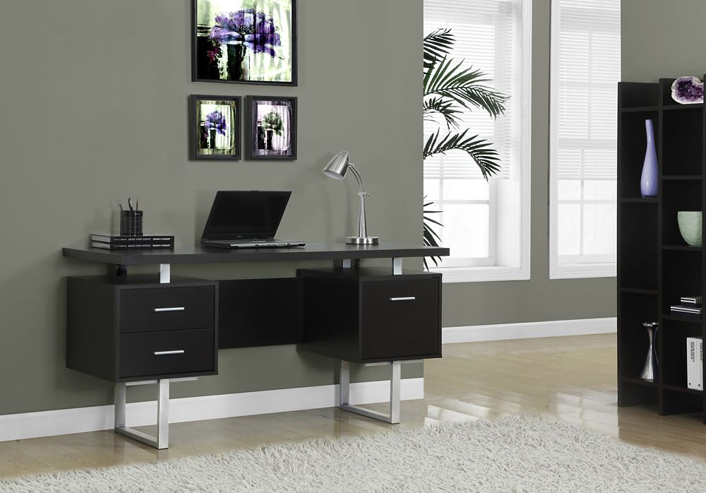 Monarch Specialties Standard Computer Desk in Black The Home Depot